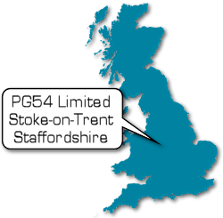 PG54 Limited, Stoke-on-Trent, Staffordshire, United Kingdom. ST3 5XW